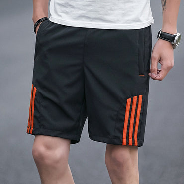 Solid Casual  Elastic Waist Jogging Shorts