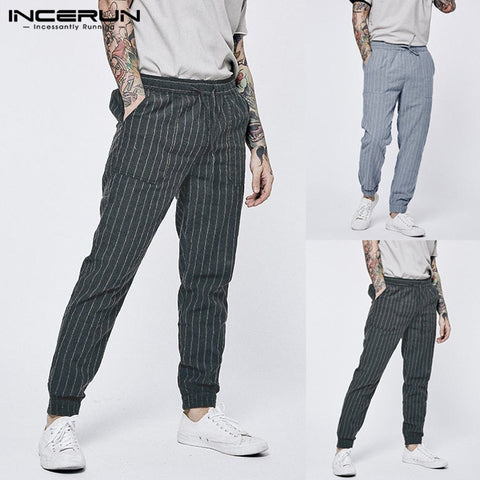 Cotton Drawstring Joggers Fashion Loose Trousers Pants