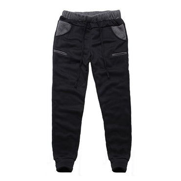 Elastic Waist Casual Fleece Warm Trousers Pants