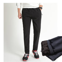 Outside Fleece Joggers Thicken Sweatpants Straight Trousers Pants