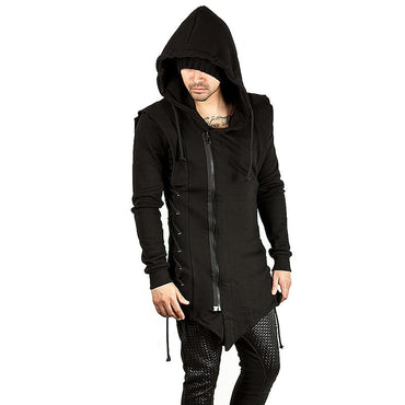 Assassins Creed Guard Hat Loose Cable-stayed Chain Coat Black Guard Hoodie