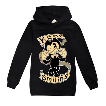 Printed Long Sleeve Hooded Sweatshirt Clothes Cotton Leisure Hoodies