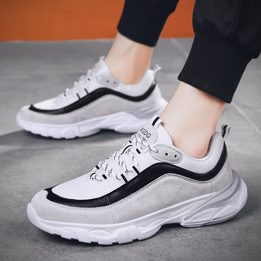 Comfortable Breathable PU+Mesh Flats Shoes & Sneakers