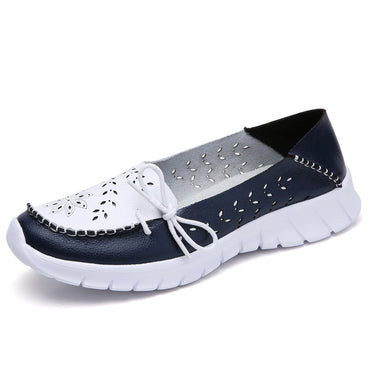 genuine leather shoes slip on ballet Flats Shoes