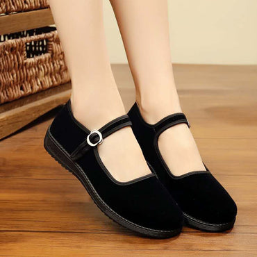 Square Toe Ballet Flats Casual Slip On Flats Shoes
