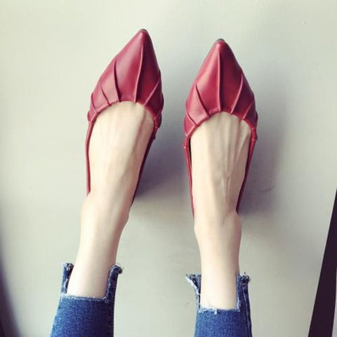 Pointed toe Soft Single Flats Shoes
