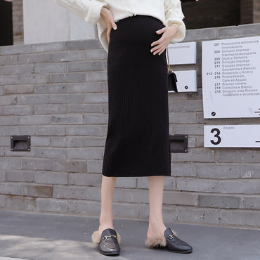 knit skirt stomach lift bag hip step skirt