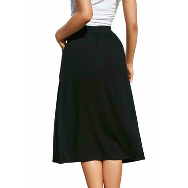Elastic High Waist Beach Midi Skirts