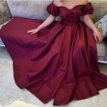 Puffy sleeves Prom party evening dresses