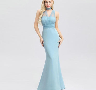Neckline Covertible Mermaid Party Dresses