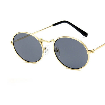 Retro Small Metal Frame Steampunk Sunglasses