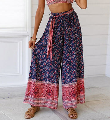 Palazzo Floral Wide Leg Pants