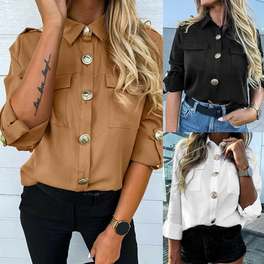 Long Sleeve Casual Buttons Shirt  Blouse