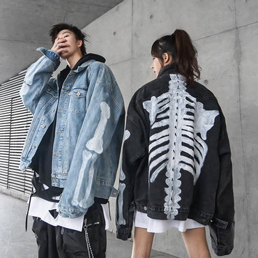 Skull printed Jean Denim Jackets