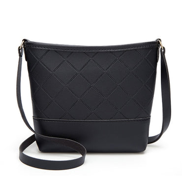 Rhombic One-shoulder Bucket Handbags