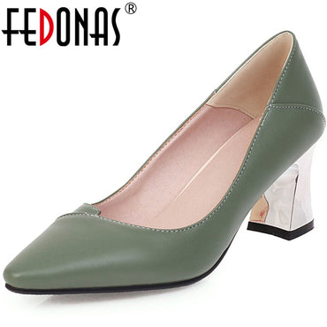 Casual Shoes Pointed Toe Thick Heel