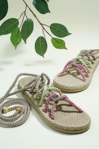 Bambi Beige Green Sandals