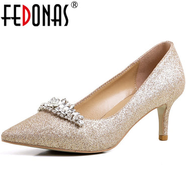 Wedding Rhinestone Pumps Heels