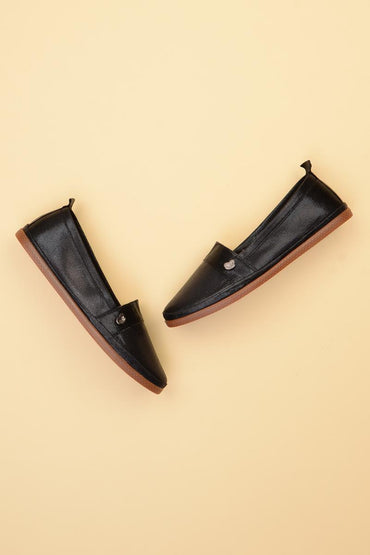 Bambi Black Espadril Flat shoes