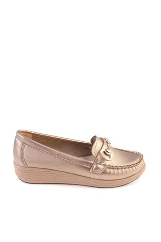 Bambi Gold Loafer Flat shoes