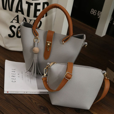 Two-Piece Set Simple Versatile Shoulder Handbag