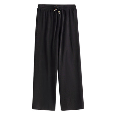 Retro Literary Elastic Drawstring Ankle Length Loose Pant