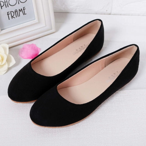 Black Large Size Casual flats shoes