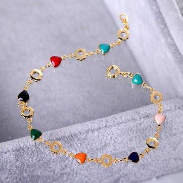 Women Heart Gold Color Charm Bracelets