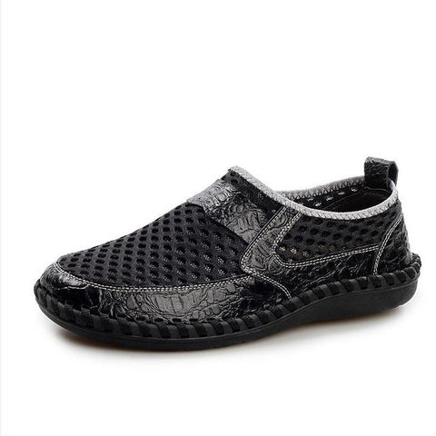 2018 Breathable Genuine Leather Slip On Casual Shoes - GaGodeal