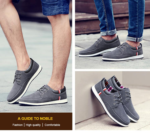 Men's Leather Casual Shoes - GaGodeal