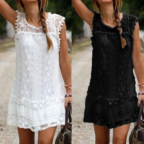 Tassel Black White Mini Lace - GaGodeal