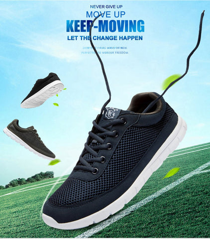 Men Casual Shoes Breathable Lace-Up Walking Sneaker