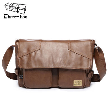 Leather Casual Large Capacity Messenger handbag