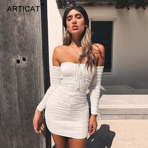 Bandage Dress  Sexy Off Shoulder