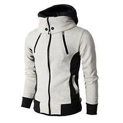Fashion hoodies casual mens sweatshirt solid color warm  hoodies