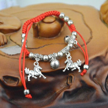 1PC Fashion Ethnic Red Rope Chain bracelet