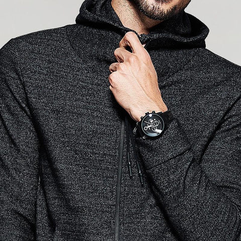 Casual Hoodies Thick Black Color Brand Clothing Man's Slim Fit Hoodies