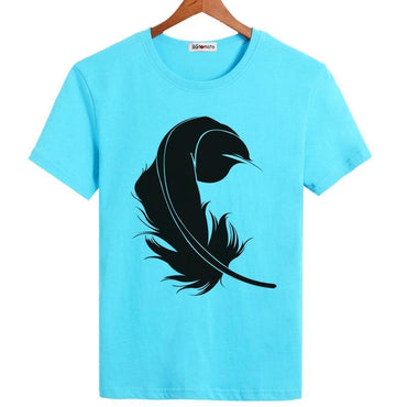 3D Printed Black feather t-shirts