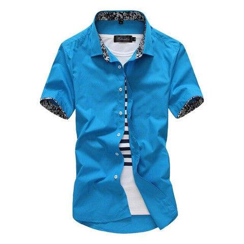 short sleeve floral men dress Fashion Shirts