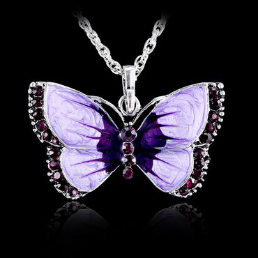 Boho Jewelry Butterfly Pendant Butterfly Jewelry Statement Necklace