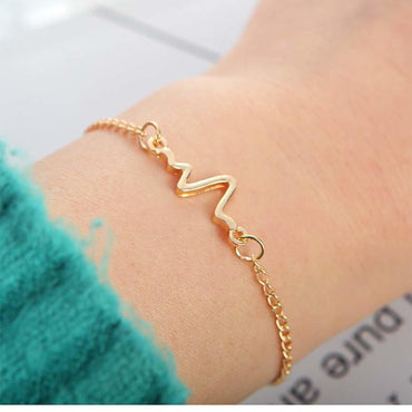 New Simple Electrocardiogram charm women Bracelet