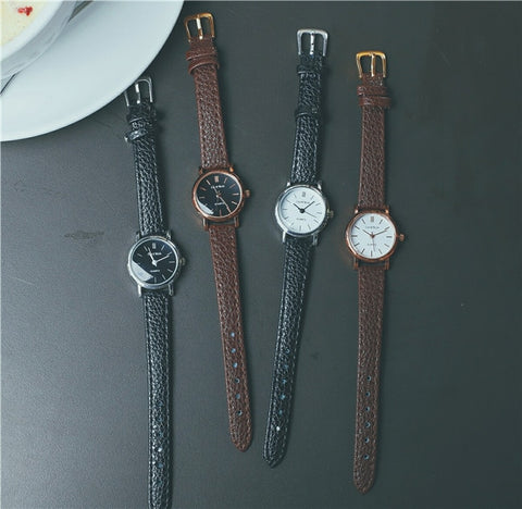 New Fashion Style Leather Watch Women Vintage Watches