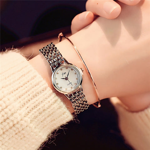 New Fashion Analog Wrist Small Dial Stainless Steel Delicate  Luxury Watches