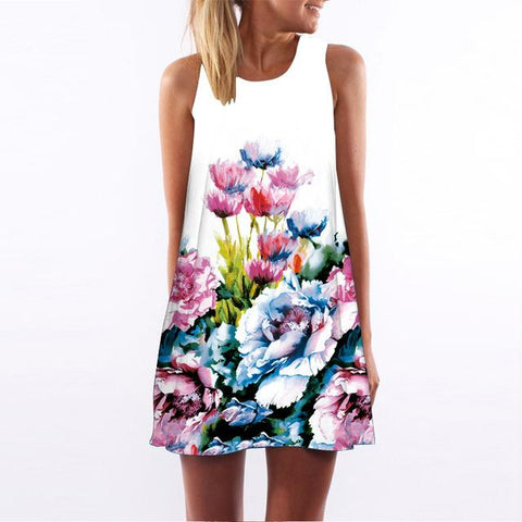 Summer Style Short Dress