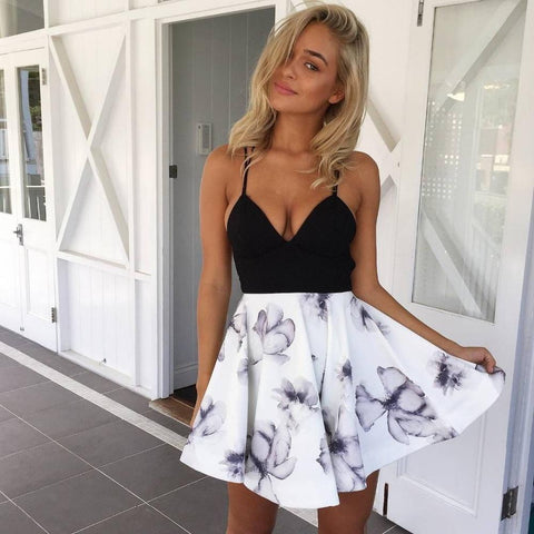 Off Shoulder Flower Print