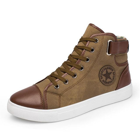 Fashion High Top Canvas Casual Shoes