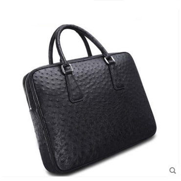 briefcase South Africa Business Ostrich leather handbags