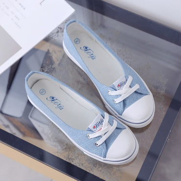 canvas shoes comfortable shoes slip-on Korean tide students set foot  flat shoes