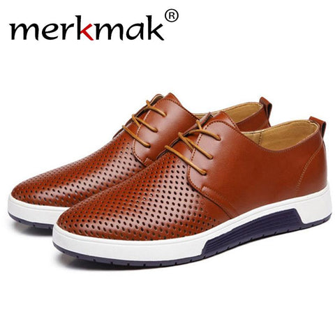 2018 Hot Selling Men's Shoes Leather Holes Design - GaGodeal