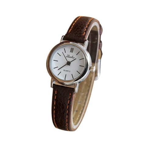 Simple Ladies Elegant Watch Women Roman Numerals Small Dial Watches
